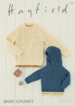 Hayfield Baby Chunky - 4765 Sweaters Knitting Pattern
